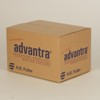 Image of a box, with Advantra logo