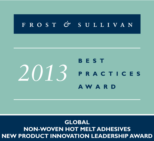 H.B. Fuller was recognised for it's game-changing contributions to the global nonwoven hygiene sector with the prestigious New Product Innovation Leadership Award from Frost & Sullivan for our hot melt adhesive product innovation and technical leadership