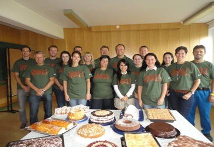 image of a group of H.B. Fuller employees at a bake sale