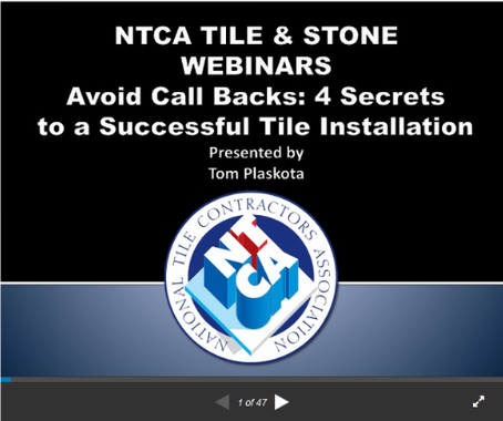 Successful Tile Installation Webinar