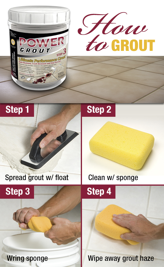 A step-by-step guide to how to grout a backsplash.