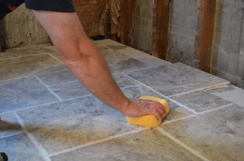 grouting+tile+floor
